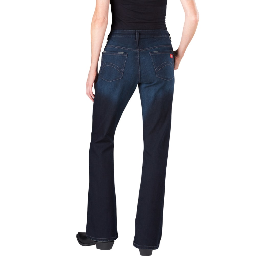 DICKIES Women's Slim Boot Cut Jeans - VINTAGE DARK-VND1