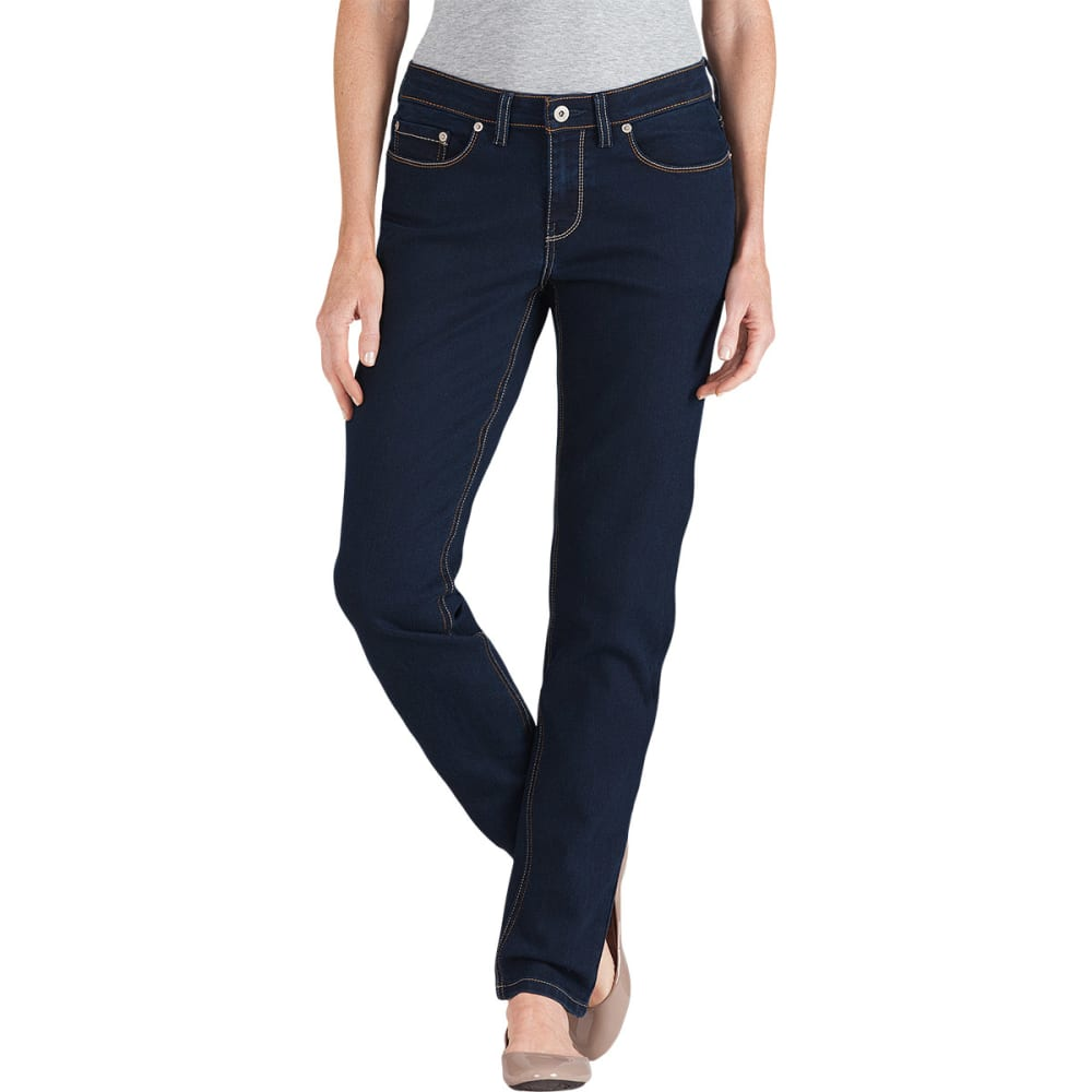 Dickies Women's Curvy Fit Skinny Leg Jeans - Blue, 02/30