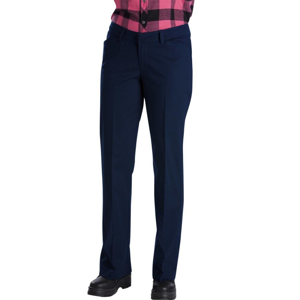 DICKIES Women's Relaxed Fit Straight Leg Stretch Twill Pants 02/32
