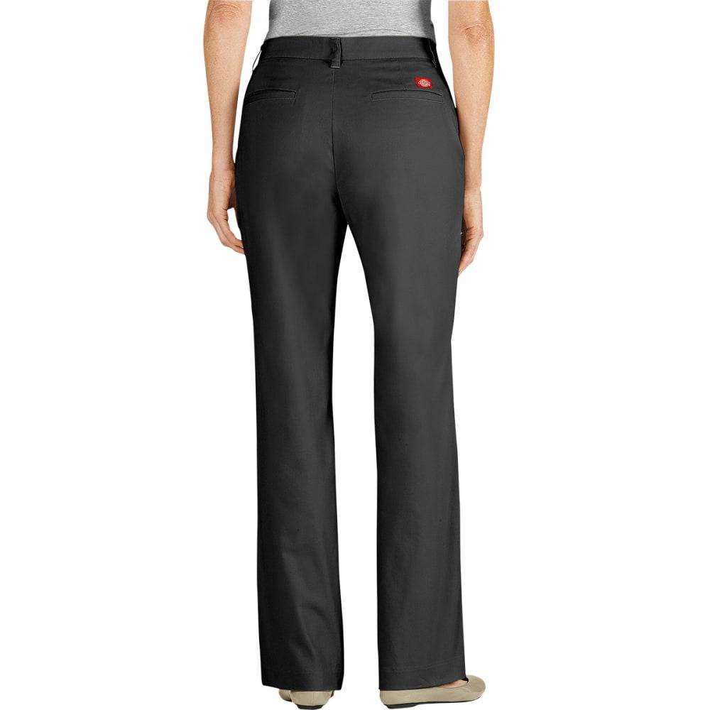 DICKIES Women's Curvy Fit Twill Pants - BLACK