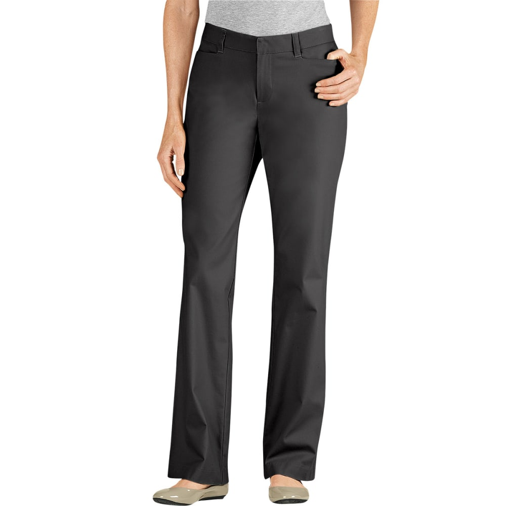 DICKIES Women's Curvy Fit Twill Pants - BLACK