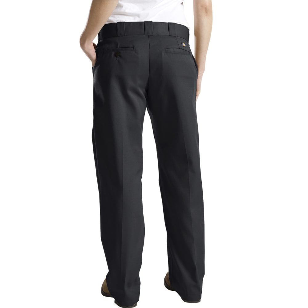 DICKIES Women's Twill Work Pants - BLACK