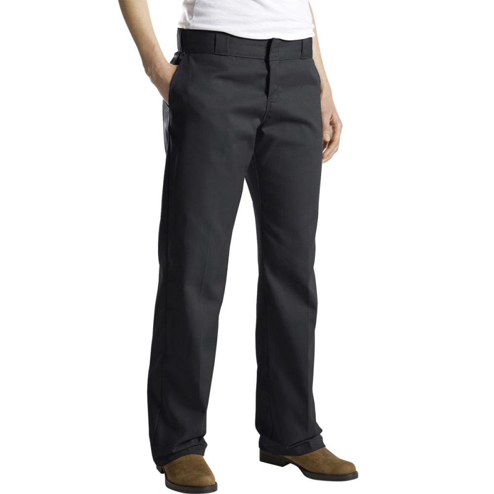 DICKIES Women's Twill Work Pants - BLACK
