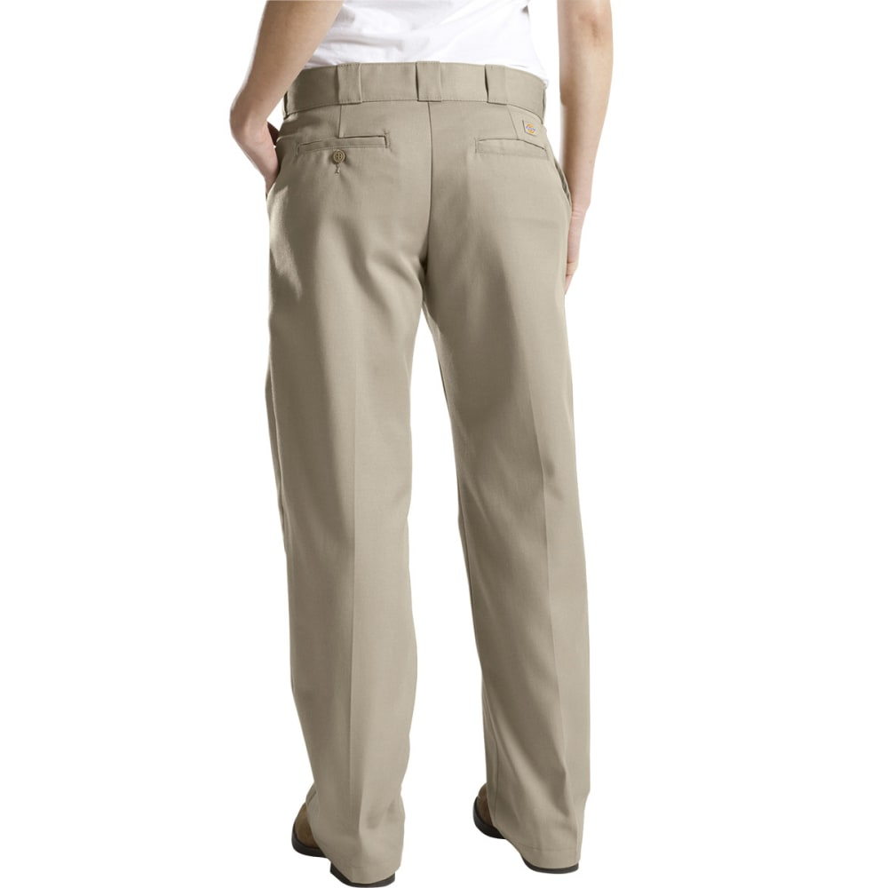 DICKIES Women's Twill Work Pants - KHAKI