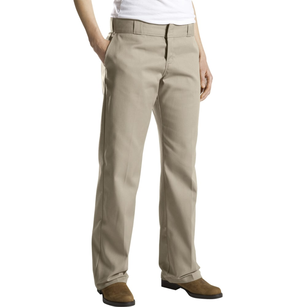 DICKIES Women's Twill Work Pants - KHAKI