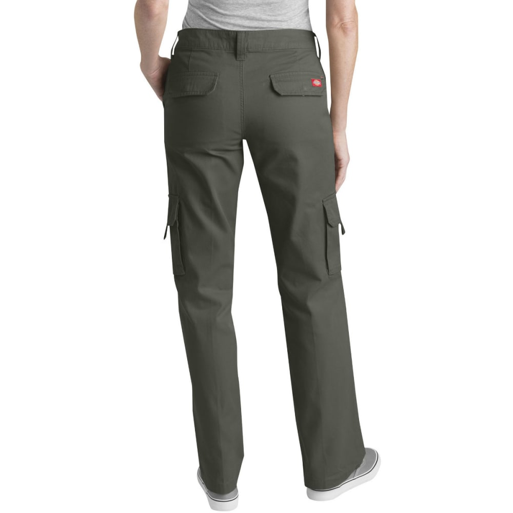 DICKIES Women's Relaxed Cargo Pants - RINSES GRAPE-RGE
