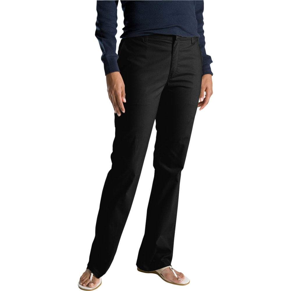 DICKIES Women's Slim Fit Boot Cut Stretch Twill Pants - BLACK