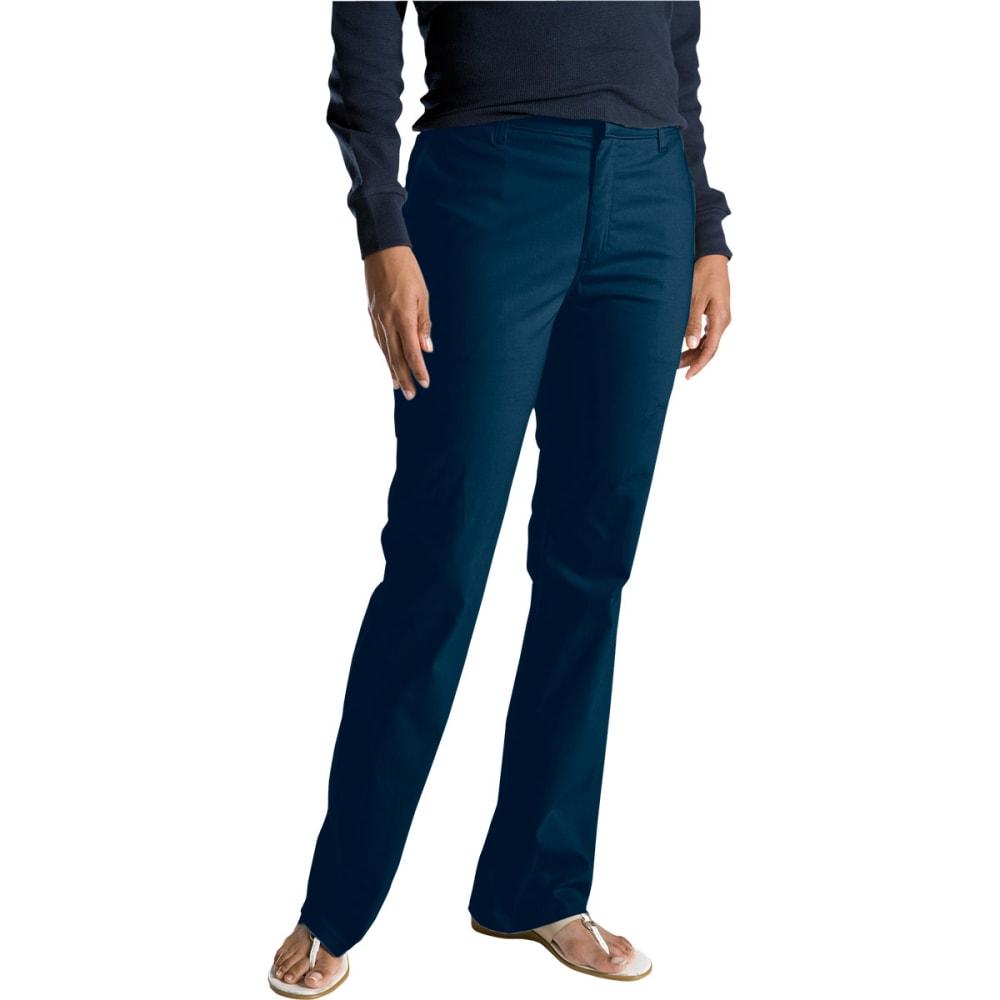 DICKIES Women's Slim Fit Boot Cut Stretch Twill Pants - DARK NAVY