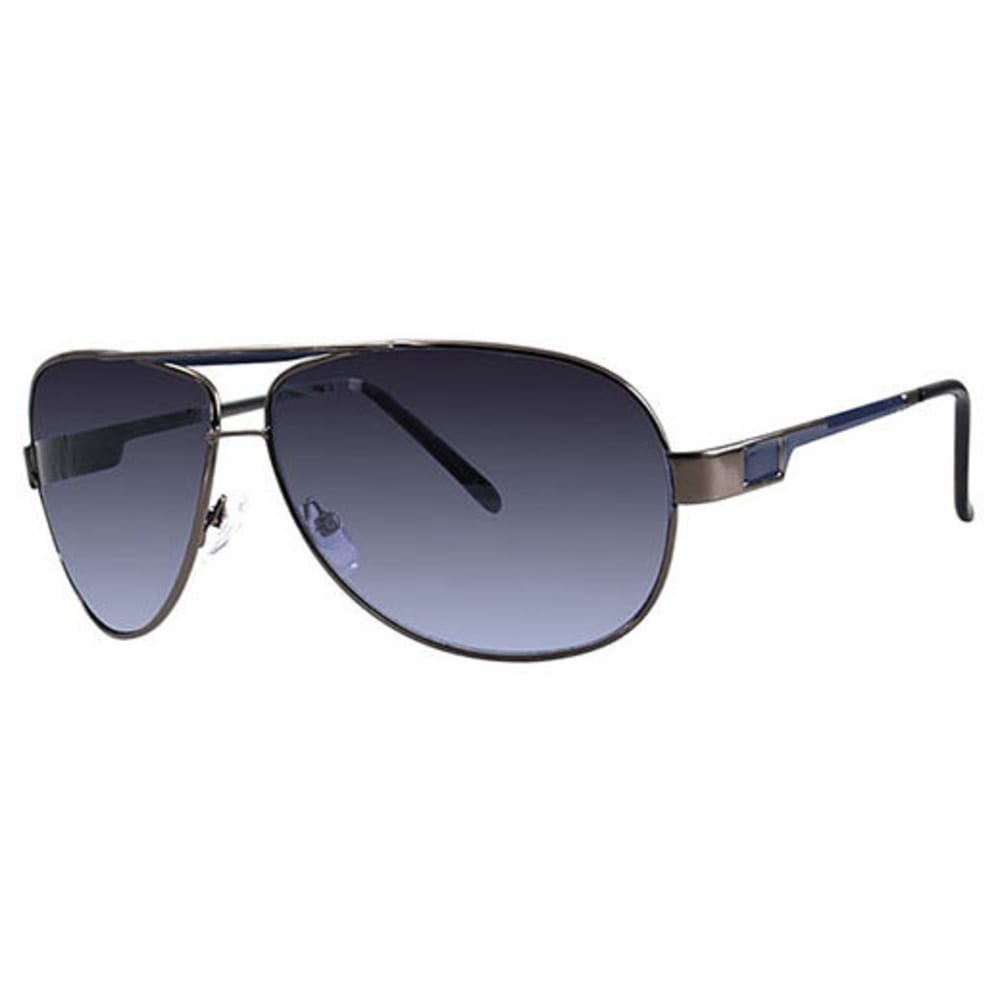 Tropic-Cal Vaughn Metal Aviator Sunglasses, Silver