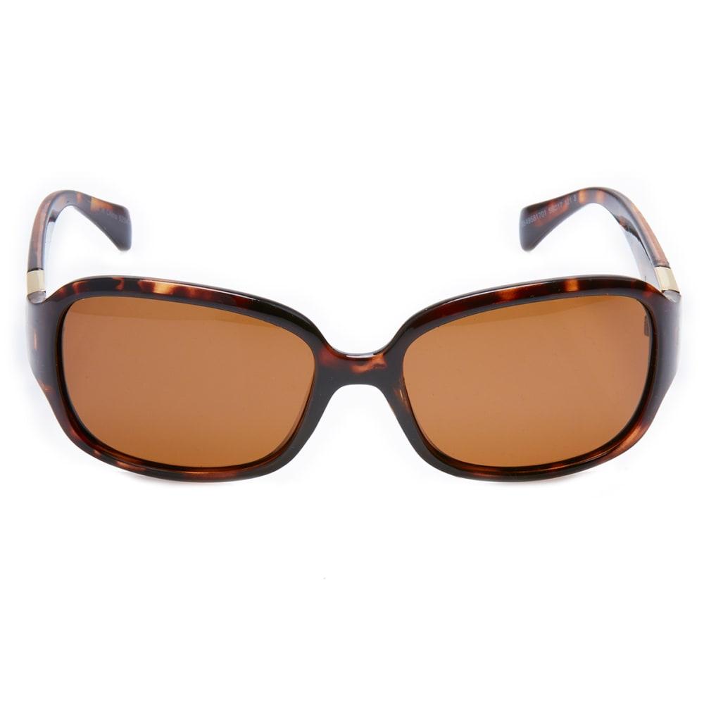OUTLOOK EYEWEAR Women's Drama Polarized Sunglasses - SMOKEY BROWN/OLIVE