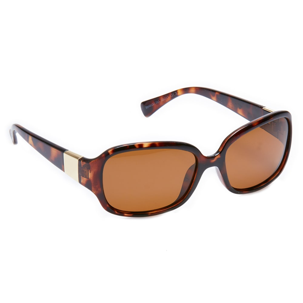 OUTLOOK EYEWEAR Women's Drama Polarized Sunglasses - SMOKEY BROWN/OLIVE