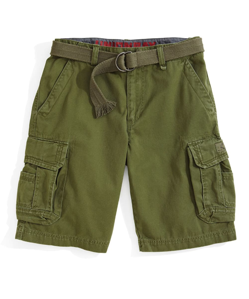 UNIONBAY Young Men's Survivor Solid Twill Cargo Shorts - GROUCH