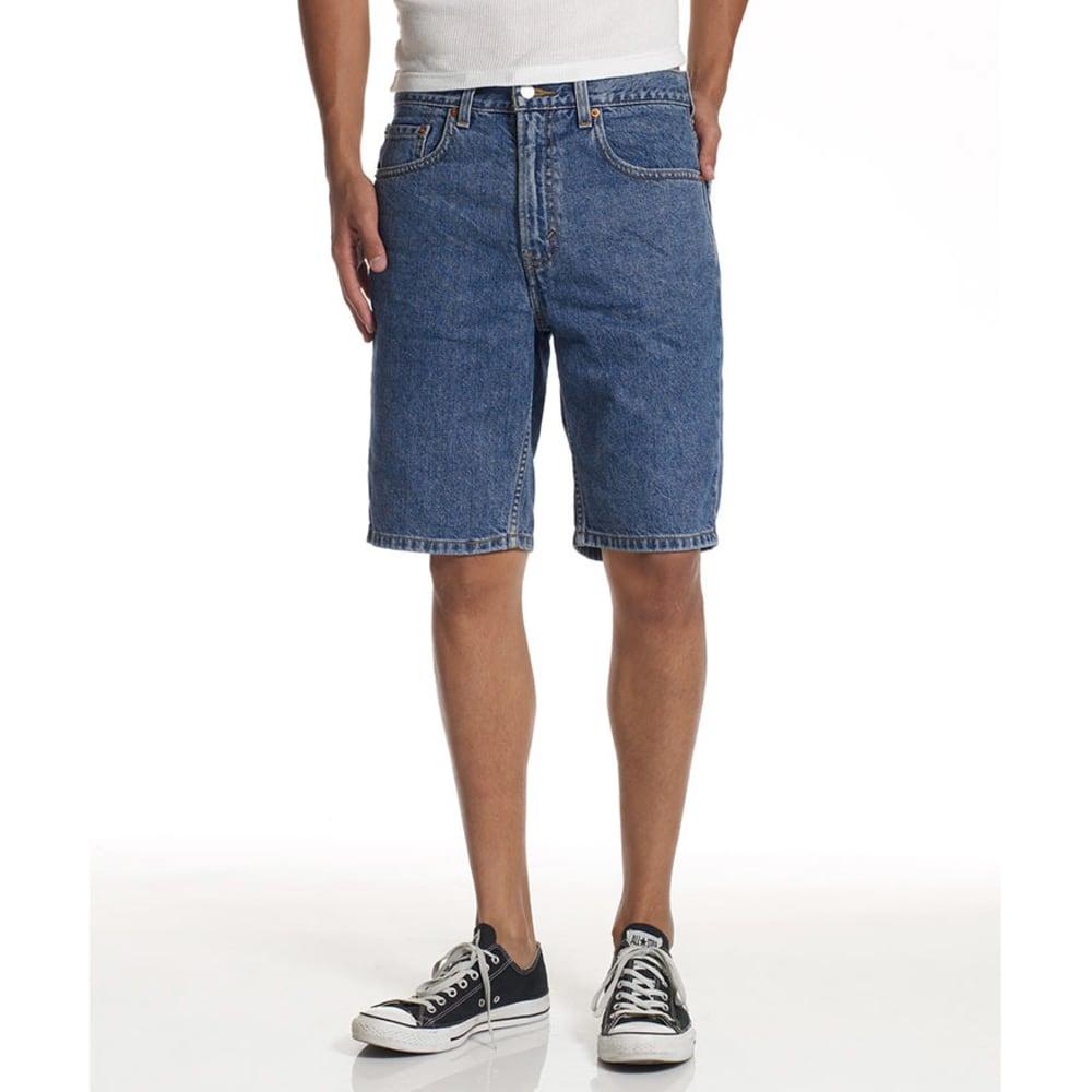 LEVIS Young Men's 505 Regular Fit Denim Shorts  - VALUE DEAL - MED STONEWASH-2111