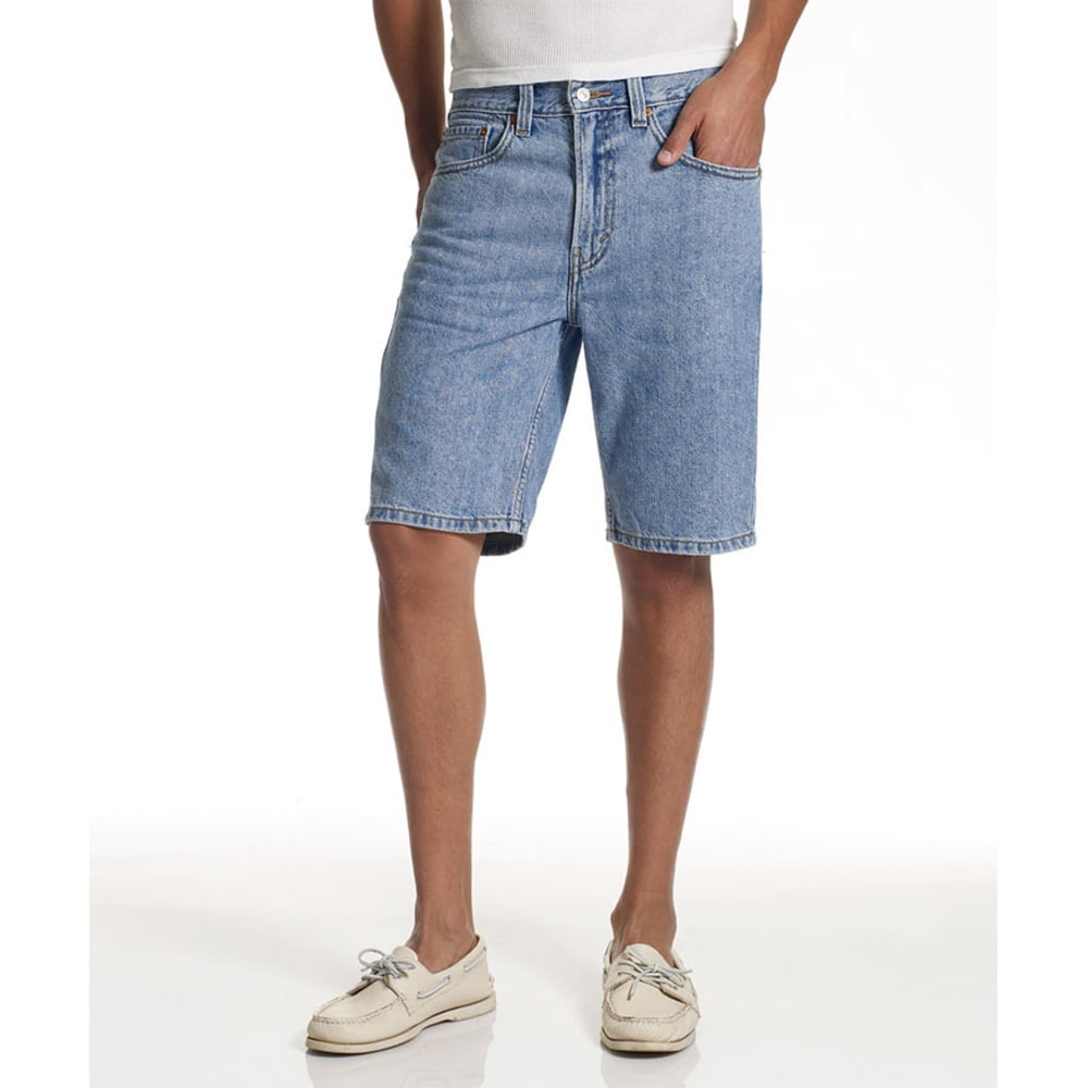 LEVIS Young Men's 505 Regular Fit Denim Shorts  - VALUE DEAL - LT STONEWASH-2110