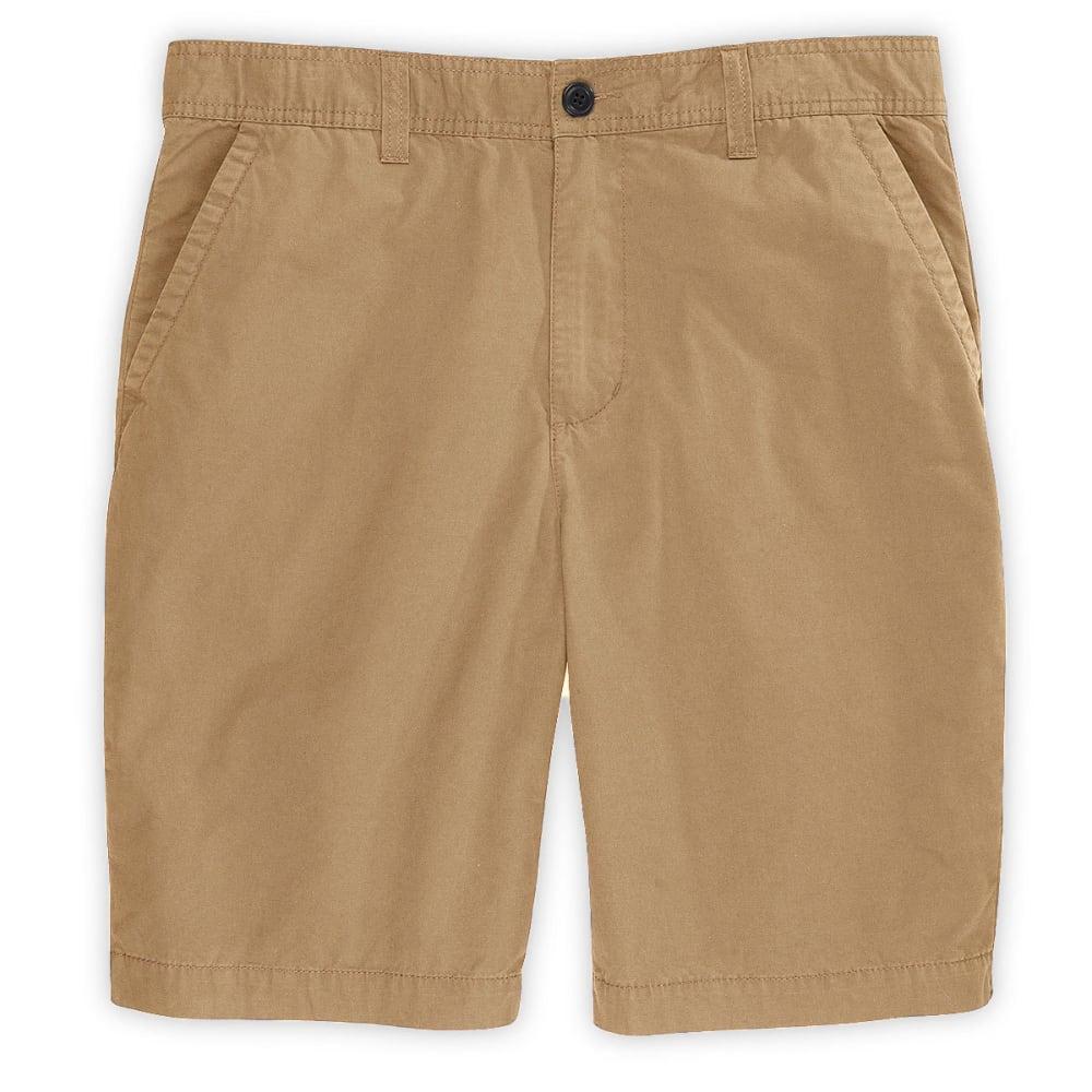 D55 Guys' Canvas Flat Front Shorts - DESERT CAMEL