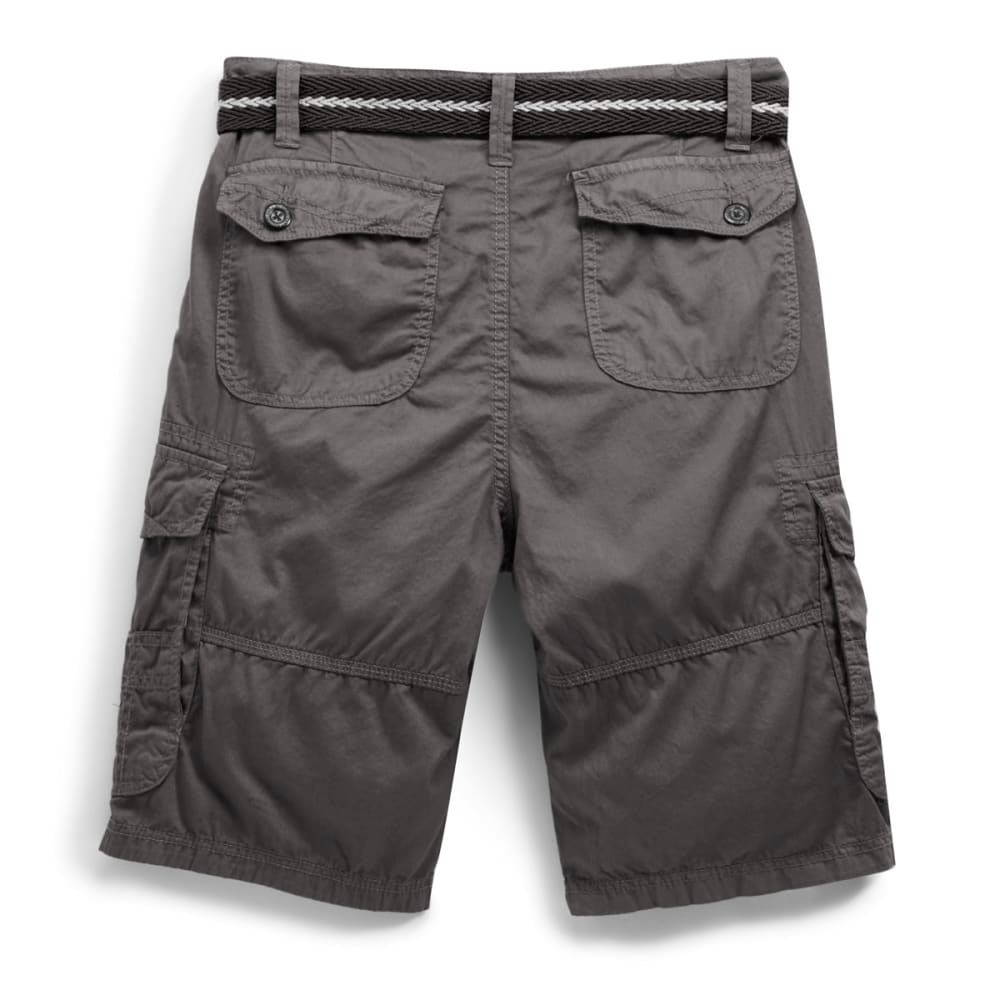 PLUGG Guys' Fiction Lightweight Twill Cargo Shorts - SLATE