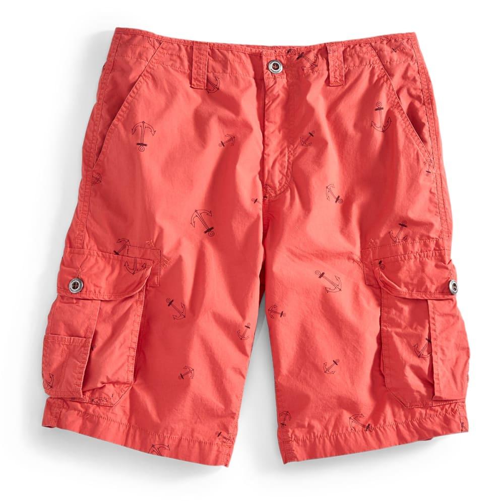 OCEAN CURRENT Guys' Anchors Cargo Shorts - PAPRIKA