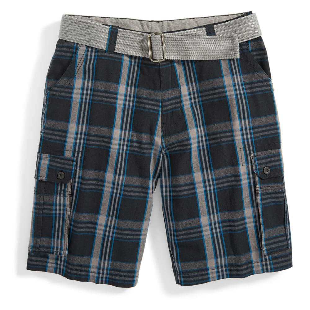 BURNSIDE Men's Belted Cargo Shorts - BLACK