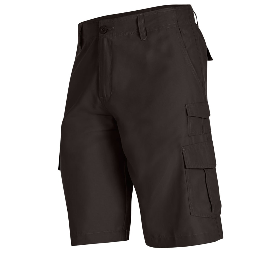 BURNSIDE Men's Solid Microfiber Shorts - CHARCOAL