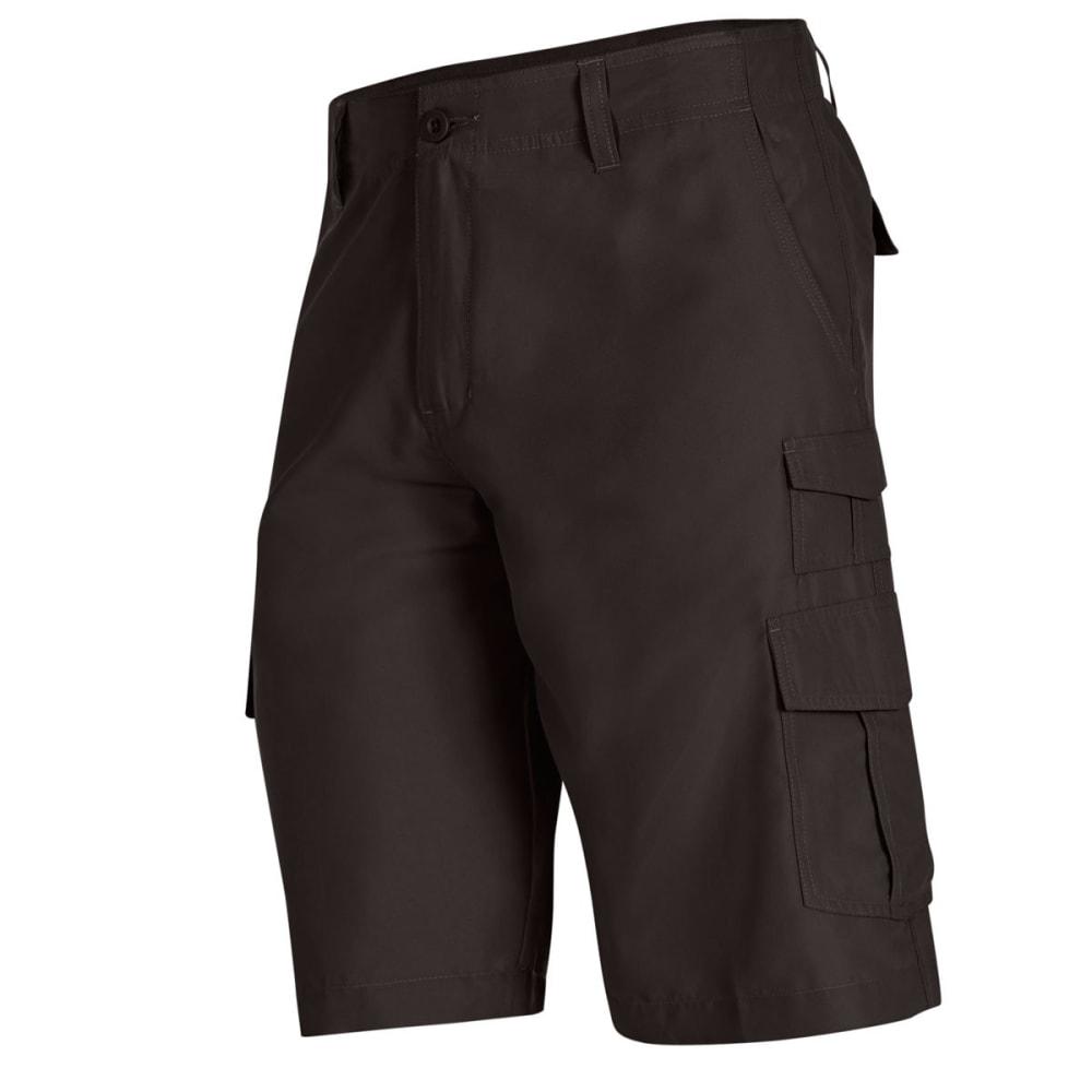 BURNSIDE Men's Solid Microfiber Shorts - CHARCOAL