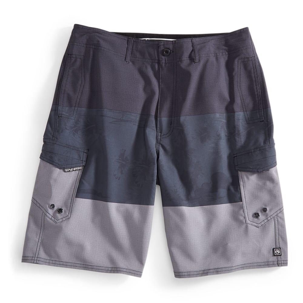 OCEAN CURRENT Guys' Alohas Cargo Shorts - GREY