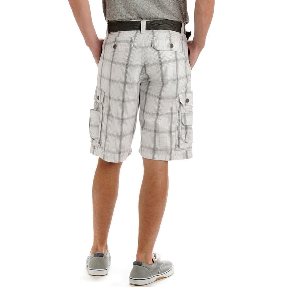 LEE Men's Wyoming Plaid Cargo Shorts - ALLOY OAK 218-3382