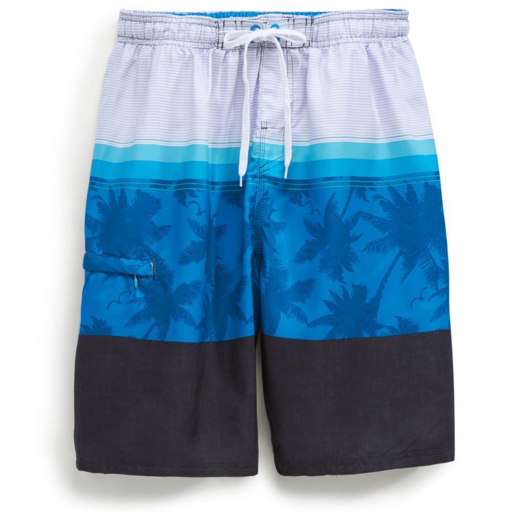 BURNSIDE Men's Molokai Boardshorts - BLUE
