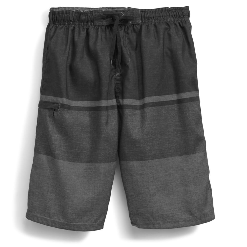 BURNSIDE Men's Empire Boardshorts - BLACK