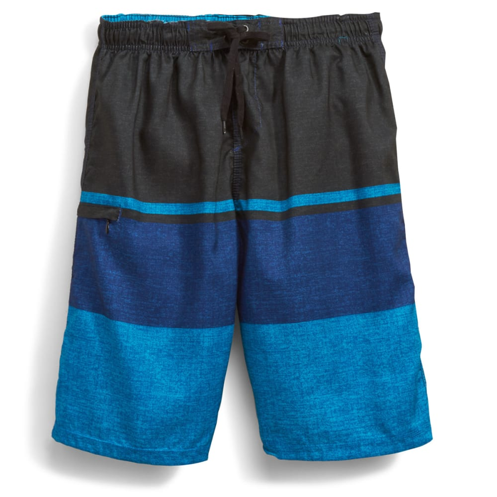 BURNSIDE Men's Empire Boardshorts - BLUE
