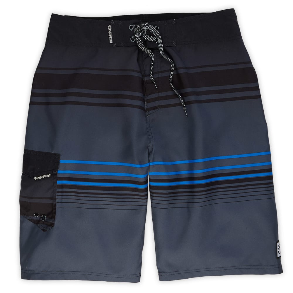 OCEAN CURRENT Guys' Overboard Board Shorts - BLOWOUT - GREY