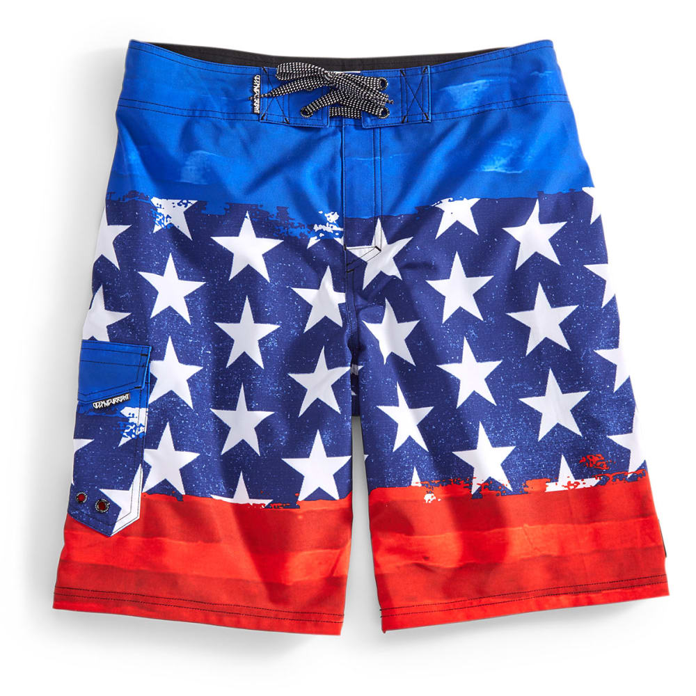 OCEAN CURRENT Guys' Banner Board Shorts - NAVY