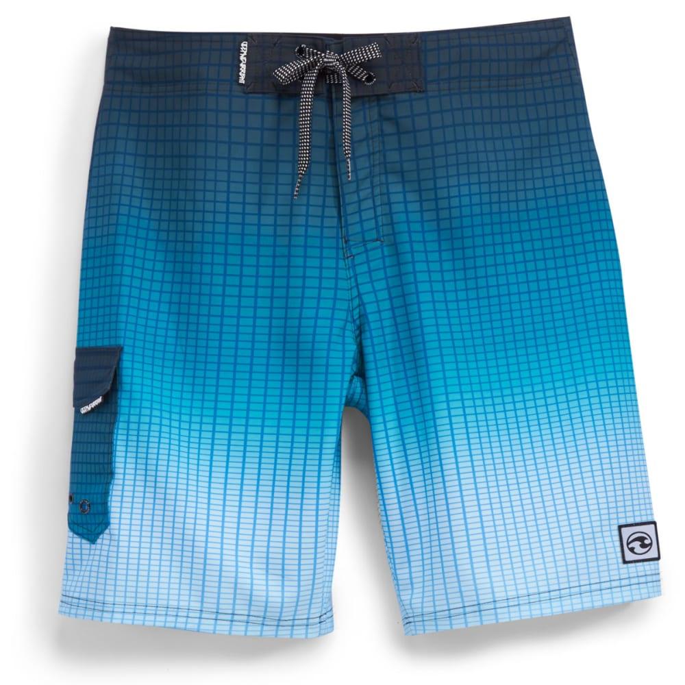 OCEAN CURRENT Boys' Gridder Board Shorts - BLUE