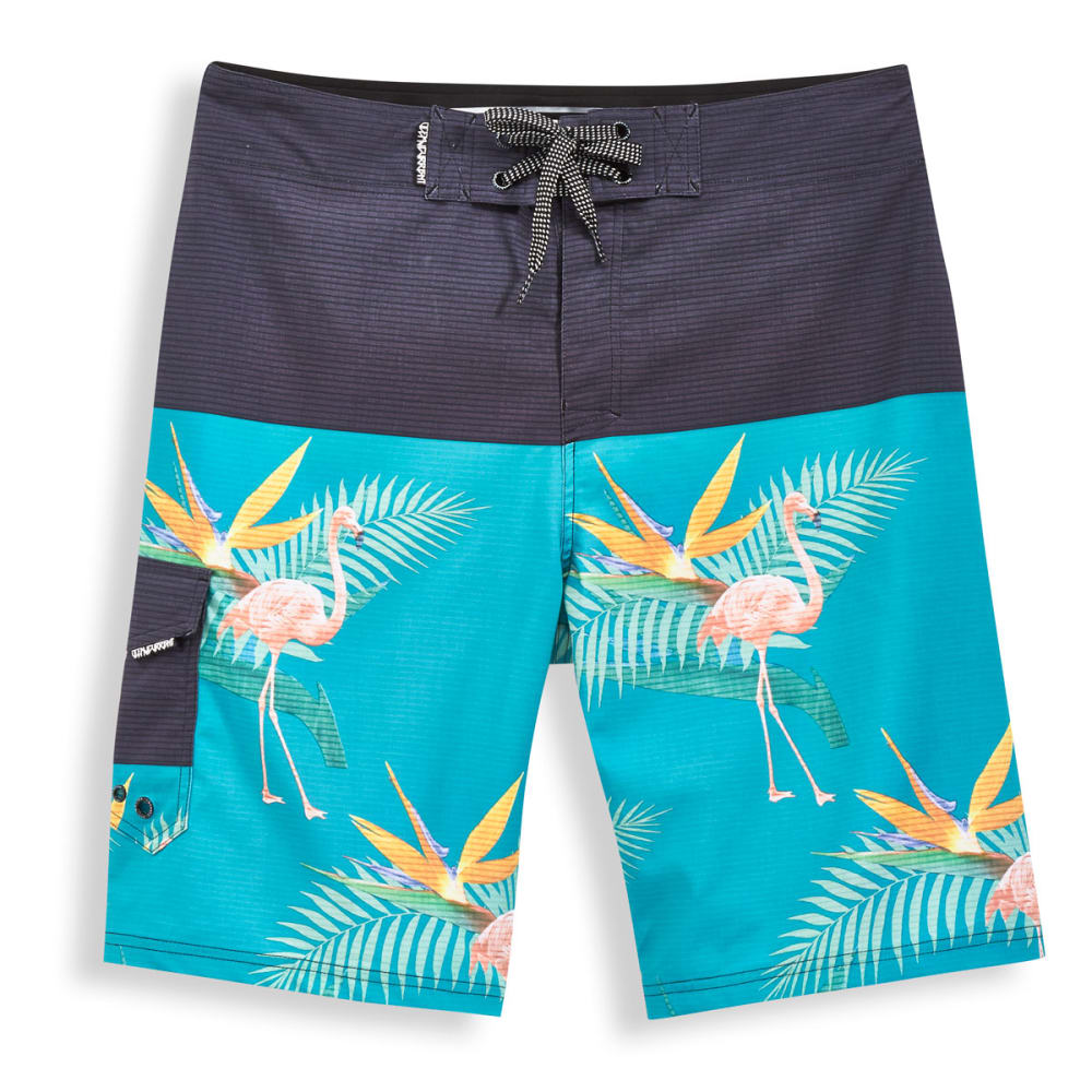 OCEAN CURRENT Men's Mingo Flamingo Boardshorts - EMERALD