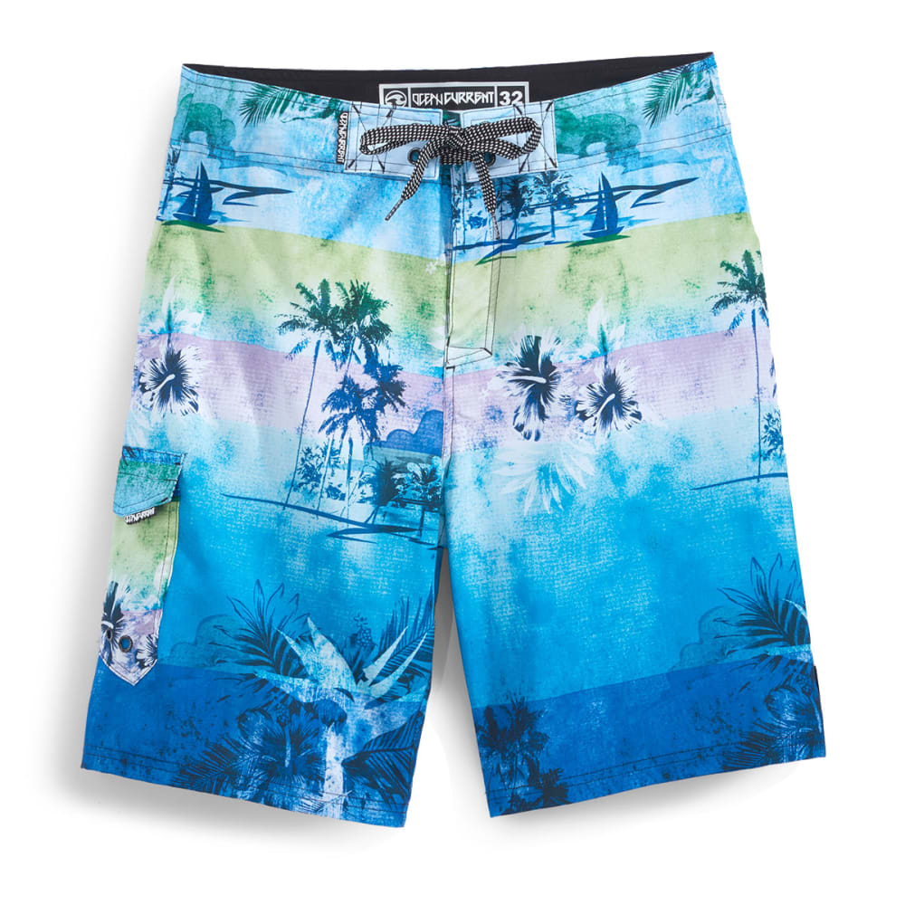 OCEAN CURRENT Men's Hawaii Boardshorts - BLUE