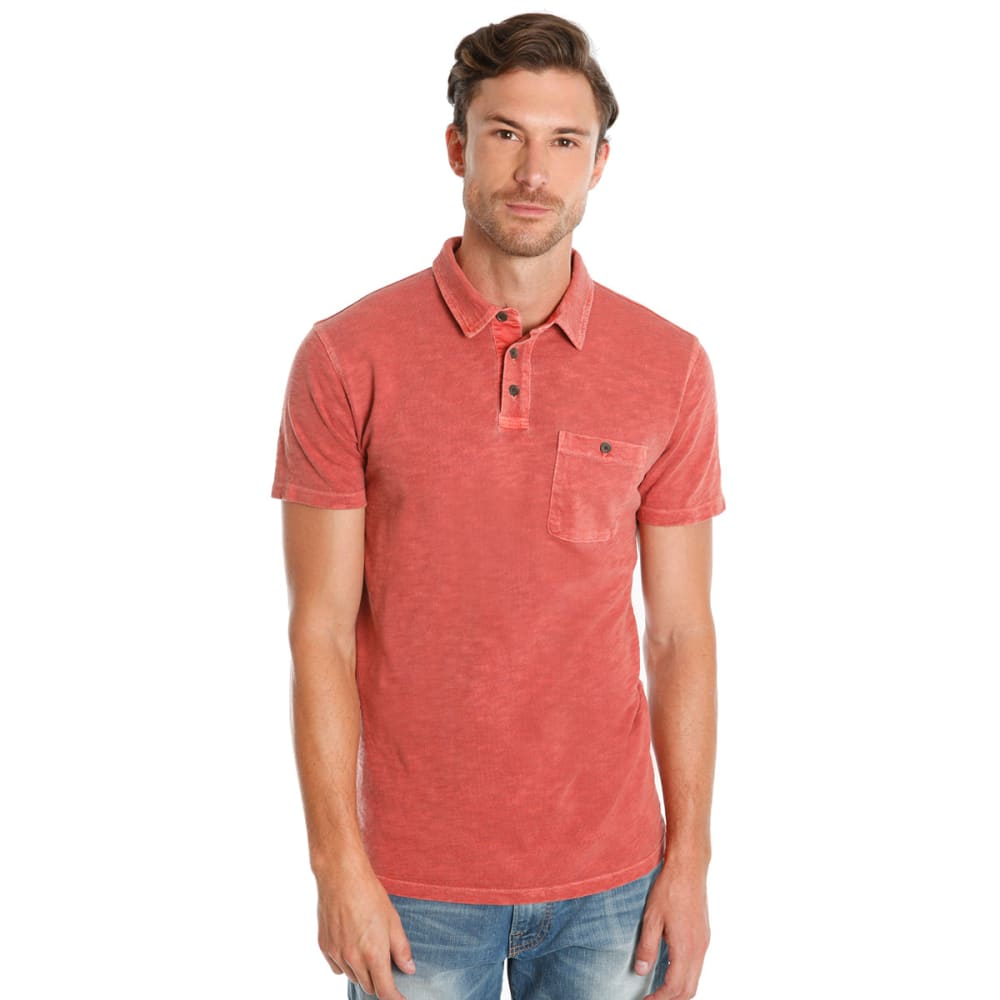 LUCKY BRAND Men's Malibu Military Polo - SUN DRIED RED
