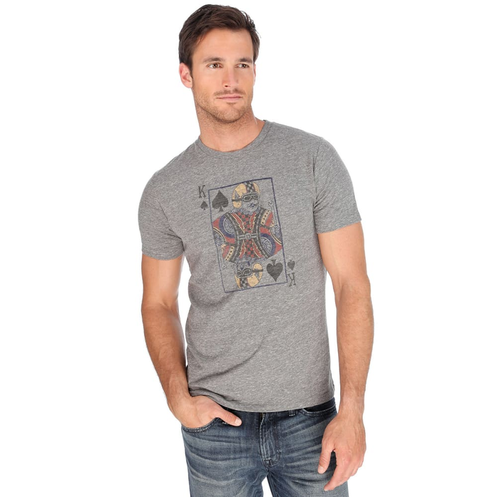 LUCKY BRAND Men's Moto King of Spades T-Shirt - HEATHER GREY