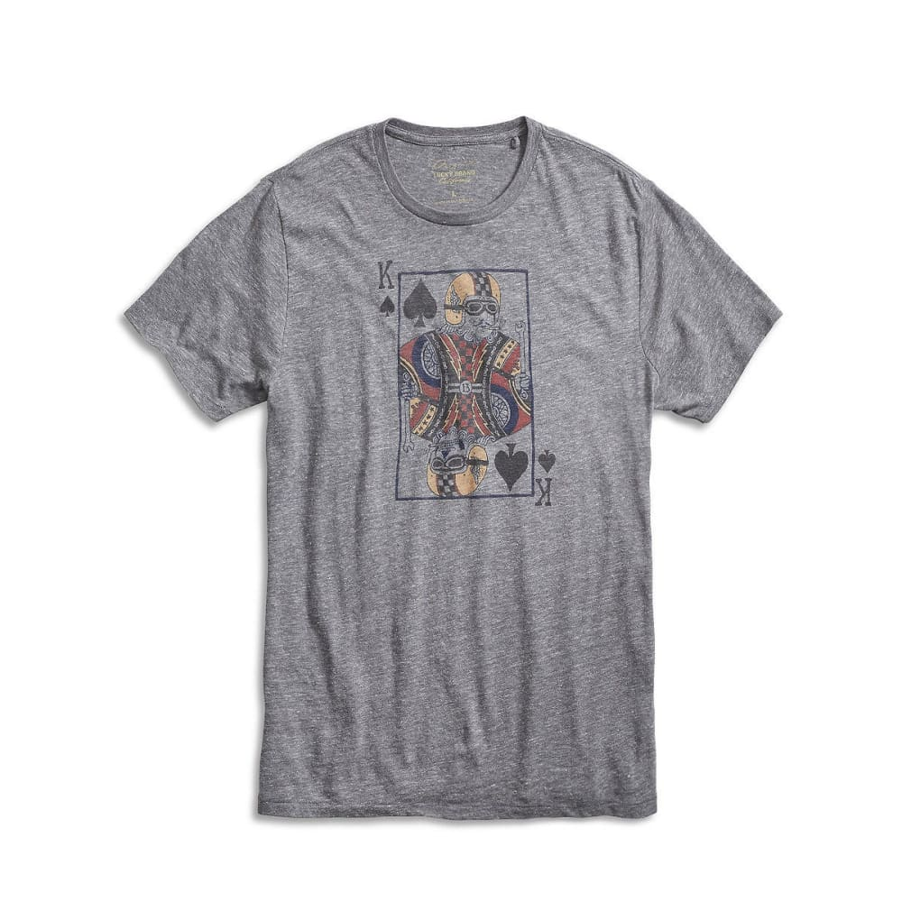 LUCKY BRAND Men's Moto King of Spades Tee M