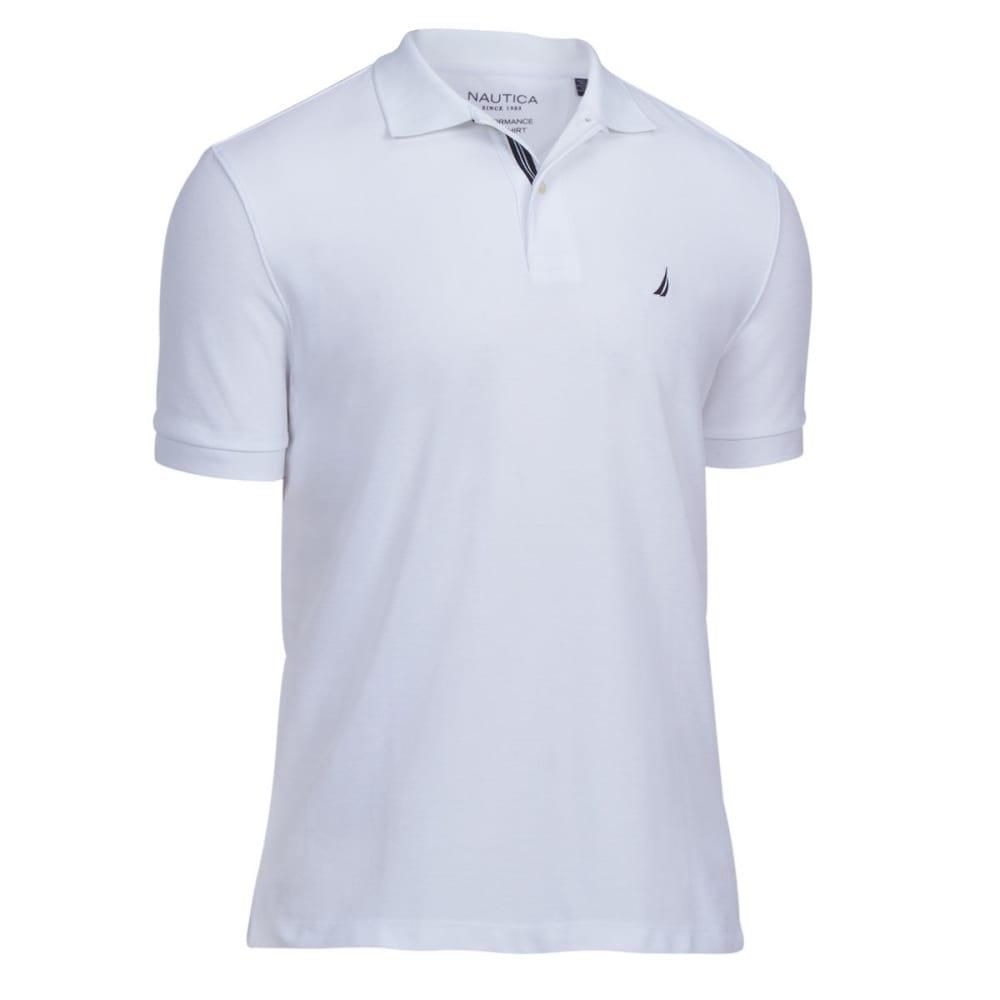 NAUTICA Men's Extra Soft Polo Shirt - WHITE-1BW