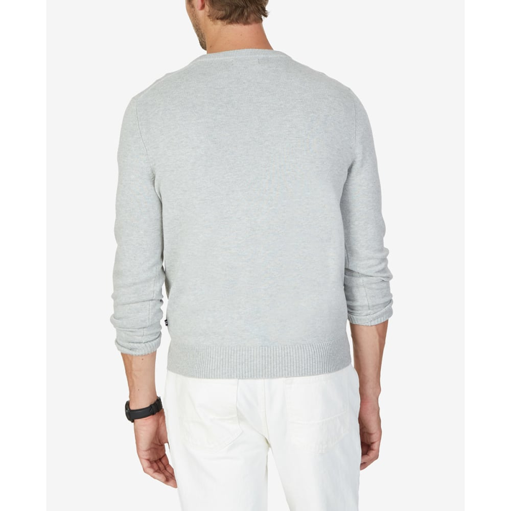 NAUTICA Men's Solid V-Neck Sweater - GREY HEATHER-OGH