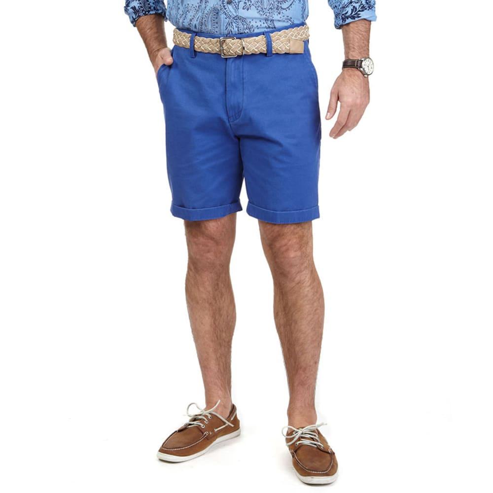 NAUTICA Men's Flat Front Twill Shorts - TWILIGHT