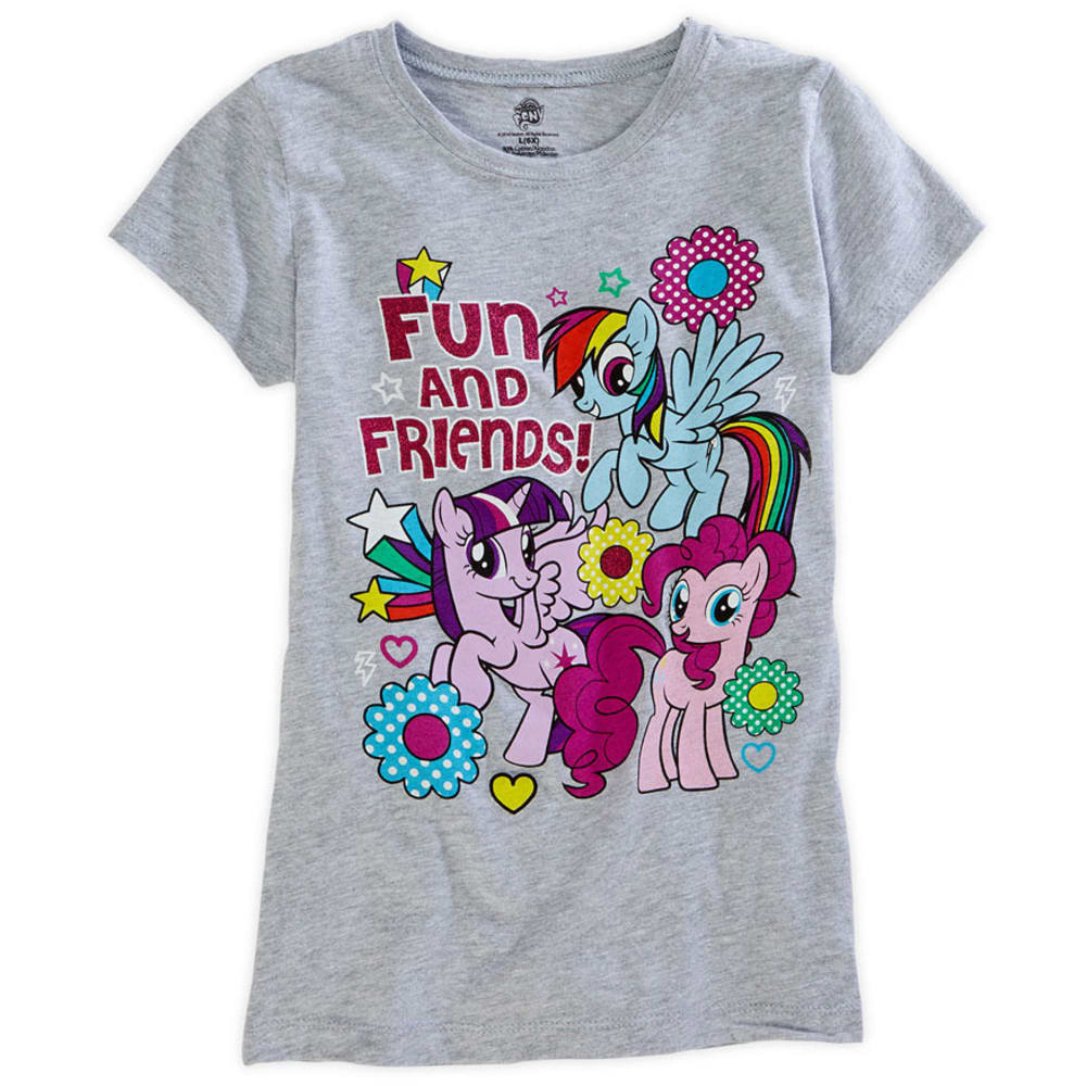 MY LITTLE PONY Girls' Fun and Friends Tee - GREY