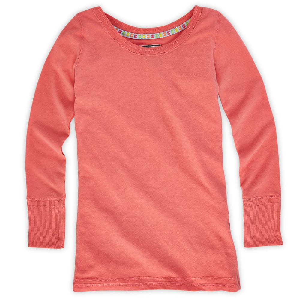 POOF Girls' Coral Solid Tee - CORAL