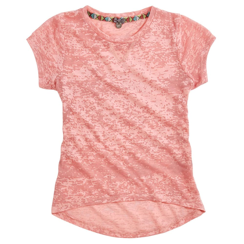 POOF Girl's Burnout Tee - CORAL