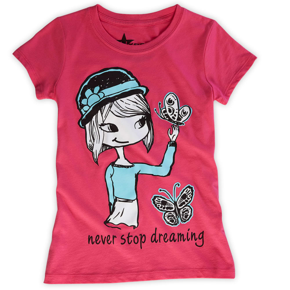 STARS AND SPRINKLES Girls' Dreaming Tee - HOT PINK