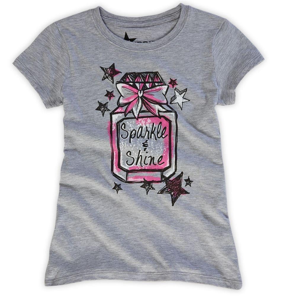 STARS AND SPRINKLES Girls' Perfume Bottle Tee - LIGHT GREY