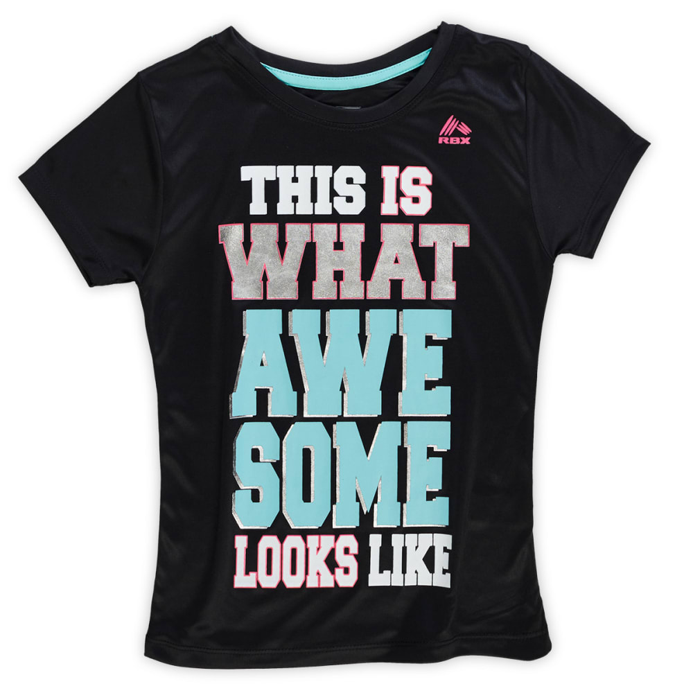 RBX Girls' This Is What Awesome Looks Like Performance Tee - MINT