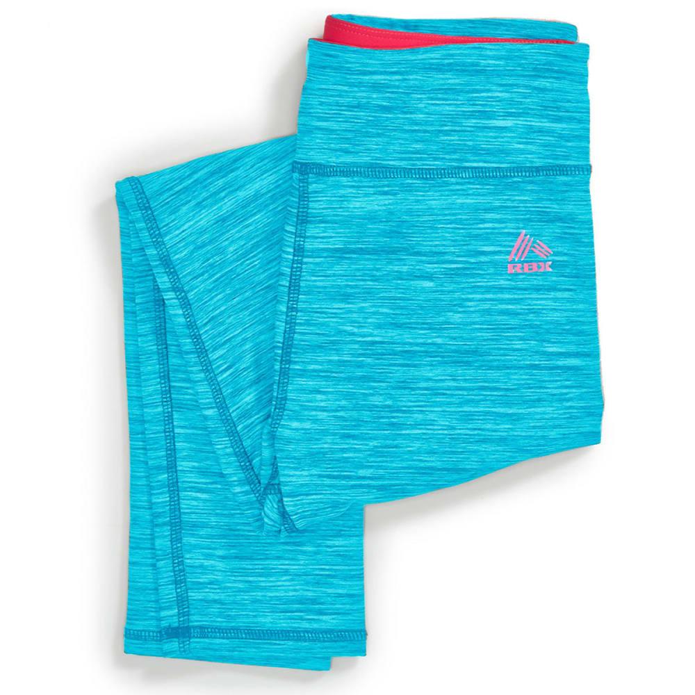 RBX Girls' Space Dye Active Leggings - BLUE ATOLL