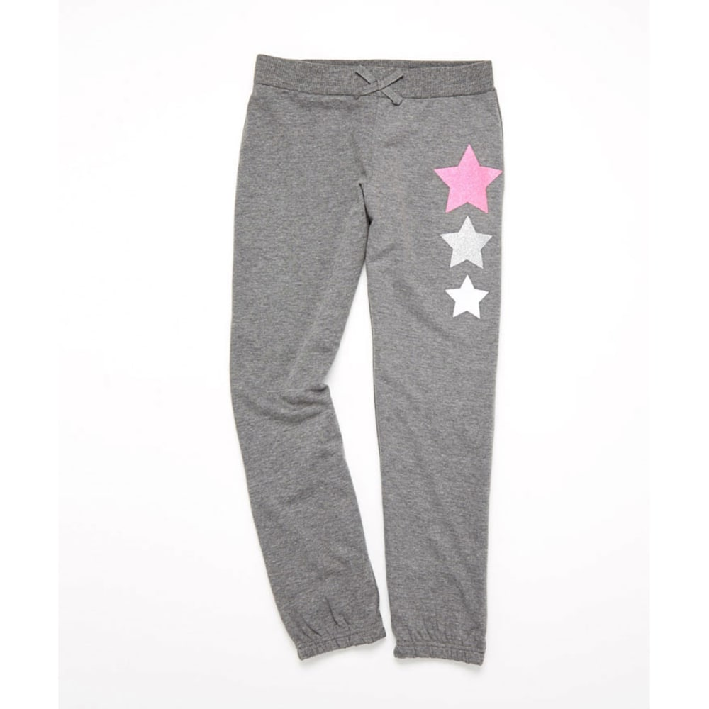 LOVE, PEACE & LIPGLOSS Girls' Roll Up Pants - CHARCOAL