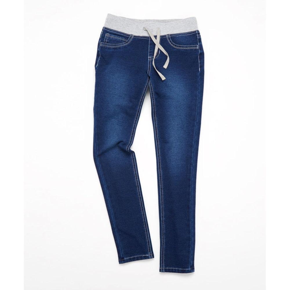 VANILLA STAR Girls' Dark Fade Knit Waist Jeggings - DARK BLUE