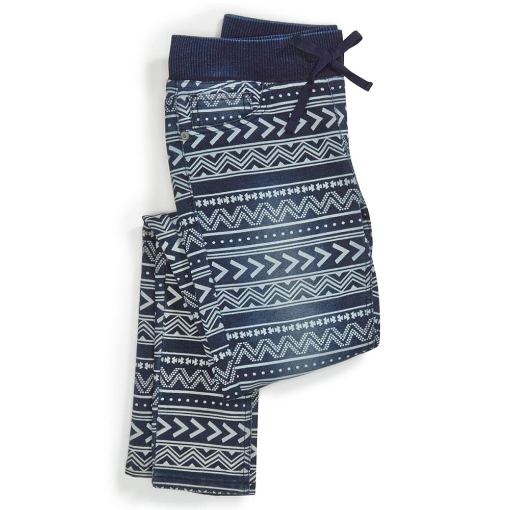 VANILLA STAR Girl's Ribbed Knit Waistband Aztec Print Jeggings - BLOCK PARTY